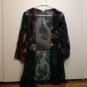 Floral shawl.